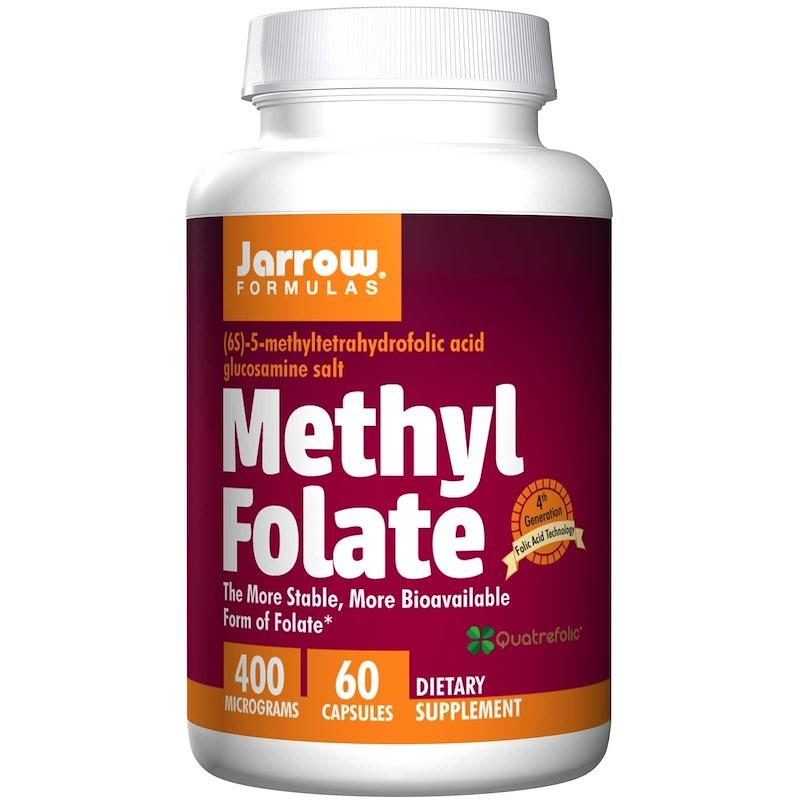 Метил Фолиевая Кислота (Метилфолат) 400 мкг, Methyl Folate, Jarrow Formulas, 60 гелевых капсул