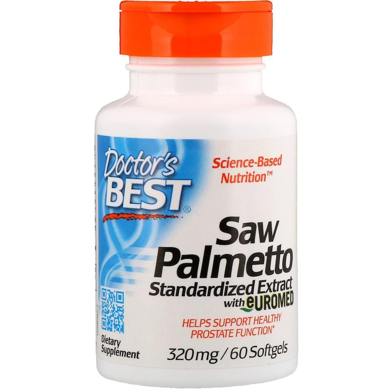 Комплекс для мужчин пальма сереноа, Doctor's Best, Saw Palmetto with Prosterol, 320 мг, 60 капсул