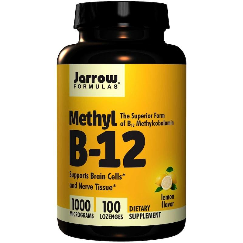 Метил B12 в пастилках, Jarrow Formulas, Methyl B12, лимон, 1000 мкг, 100 пастилок