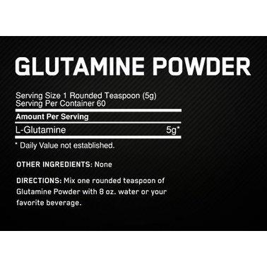 Глютамин, аминокислота, Optimum Nutrition, Glutamine Powder, 300 г