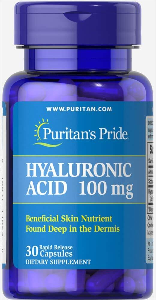 Гиалуроновая кислота, Puritans Pride, Hyaluronic Acid, 100 мг, 30 капсул