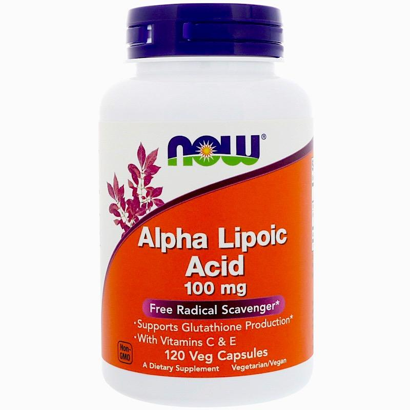 Альфа-Липоевая Кислота, Alpha Lipoic Acid, Now Foods, 100 мг, 120 капсул