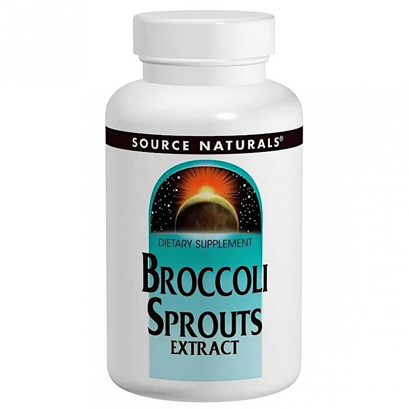 Экстракт брокколи, Source Naturals, Broccoli Sprouts Extrakt, 250 мг, 120 таблеток
