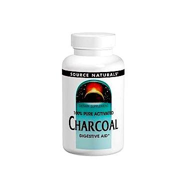 Уголь, Source Naturals, Charcoal, 260 мг, 200 капсул