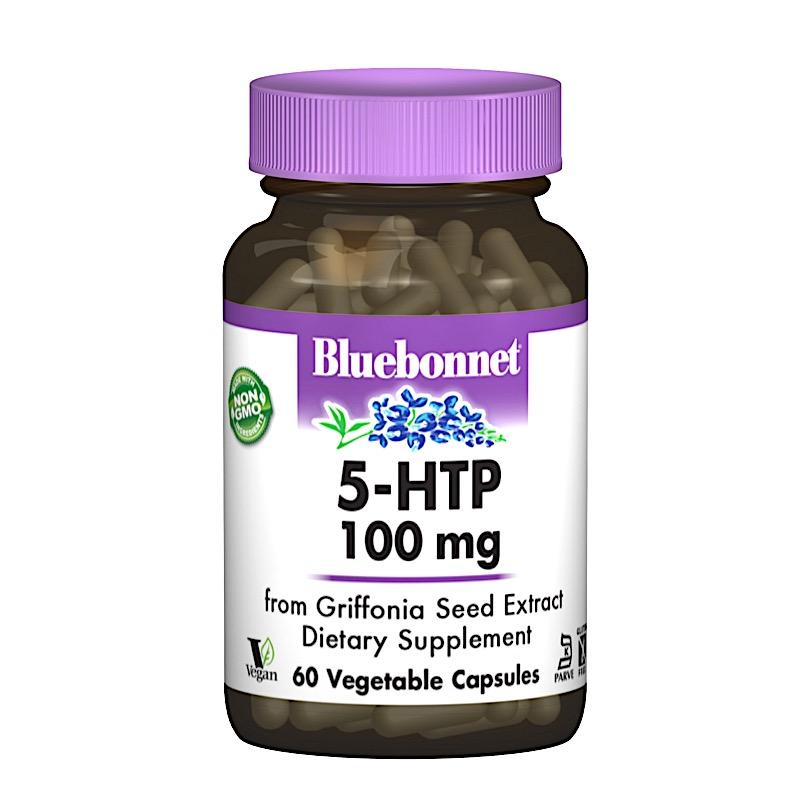 5-HTP (Гидрокситриптофан) 100мг, Bluebonnet Nutrition, 60 капсул