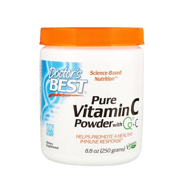 Витамин С в порошке, Doctor's Best , Vitamin C, Powder VEGAN , 250 грамм