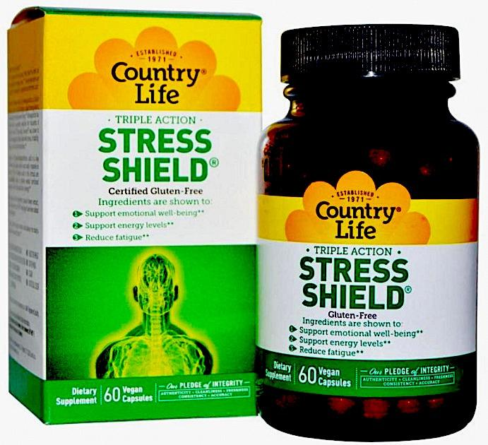 Комплекс от стресса, Country Life, Stress Shield, 60 капсул