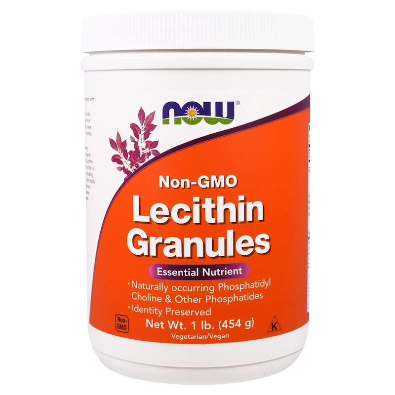 Лецитин в гранулах, Now Foods, Lecithin Granules, 454 г